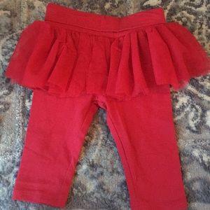 Red tutu leggings 3-6months